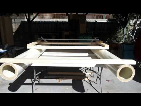DIY pvc pipe catamaran boat project