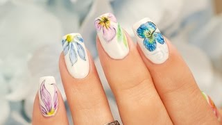 Color Pencil Watercolor Nail Art