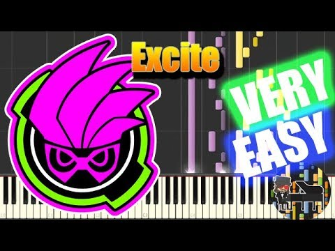 🎵 VERY EASY Excite - Kamen Rider Ex-Aid OP [Piano Tutorial] (Synthesia) HD Cover