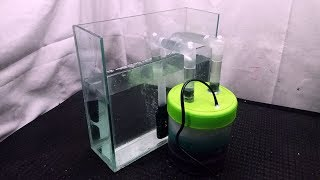 DIY external aquarium filter using a jar