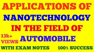 APPLICATIONS OF NANOTECHNOLOGY IN  AUTOMOBILE INDUSTRY / FIELD IN HINDI