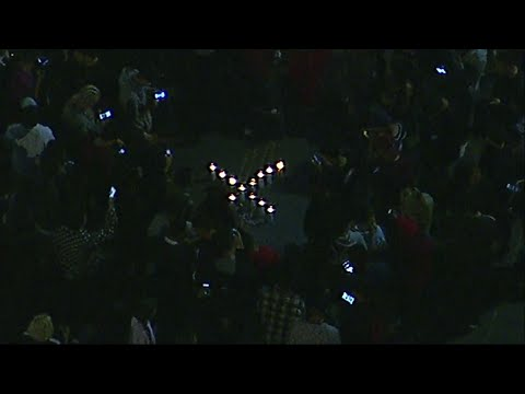 Raw: Memorial For Slain Rapper Packs L.A. Street