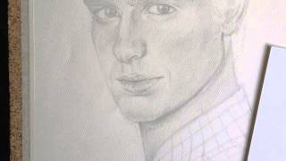 Andrew Garfield Pencil Portrait step by step By: Claudio