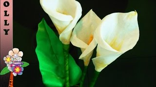 How To make paper flowers : Calla Lily | Easy and quick paper flowers tutorial