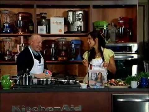 Tom Colicchio and Padma Lakshmi: Raspberry Champagne Spritzers