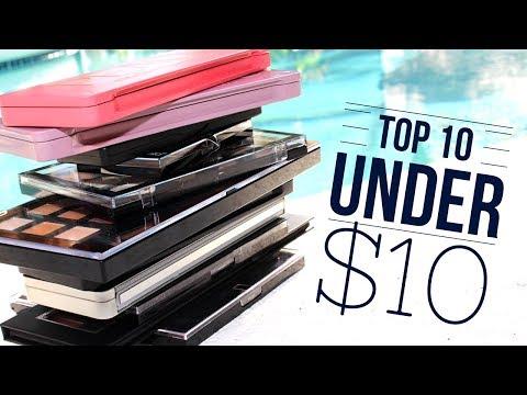 Top 10 Under $10   Drugstore Eyeshadow Palettes