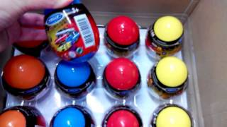 36 Surprise Eggs, Kinder Surprise small cars  Сars for kids 36, Коробка машинок