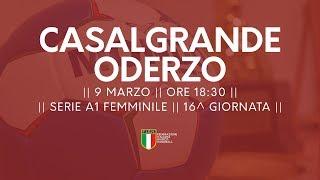 Serie A1F [16^]: Casalgrande - Oderzo 20-23