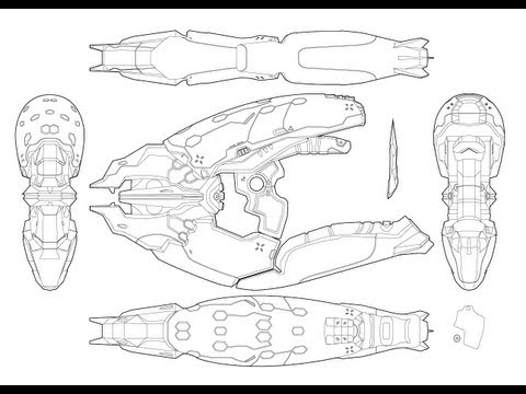 Halo 4 Needler Blueprints Time Lapse