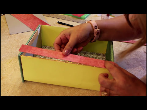 Organizador con Caja de Zapatos - Reciclaje