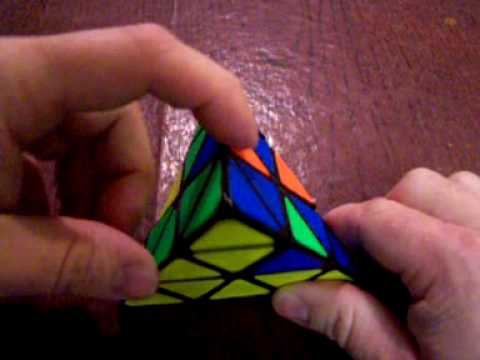 How to solve the pyraminx.