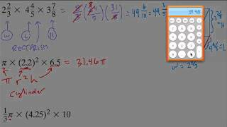 Comparing volume formulas to find shape