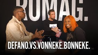 DEFANO vs. VONNEKE BONNEKE  - 5 SECONDS - RUMAGTV