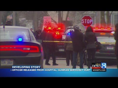 Mich. cop, suspect shot in domestic disturbance