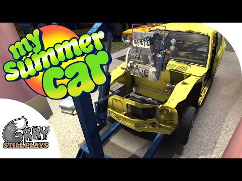 My Summer Car - Installing the Engine, Filling Fluids, Will it Start?! - Gameplay Highlights Ep 8