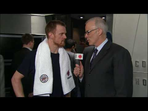 Henrik Sedin Interview - Canucks Vs Flames - 04.10.10 - HD Video