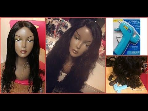 Hot Glue Wig w/ Lace Closure + Tutorial