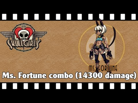 Skullgirls: Ms. Fortune combo (14300 dmg)
