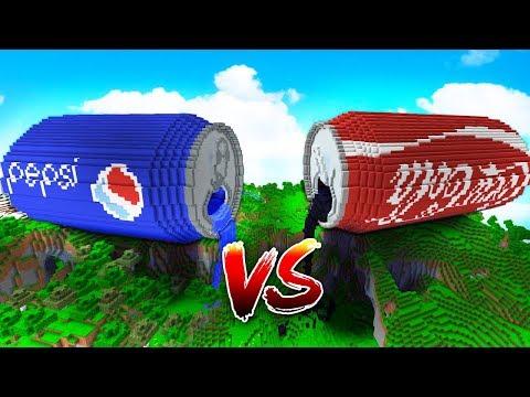 COCA COLA GIGANTE vs PEPSI GIGANTE en MINECRAFT ¿quién ganará?