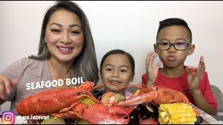 SEAFOOD BOIL [ MUKBANG ] N.E LETS EAT