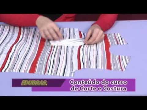 Como fazer Corte e Costura  (Curso Online ou DVD EDUBRAS)