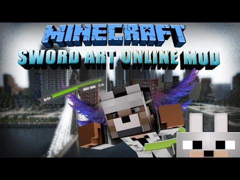 Sword Art Online UI Minecraft Mod 1.8 Review (Client and Server Preview)