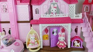 Baby doll car and Rabbit 2 story house and kitchen toys play - 토이몽