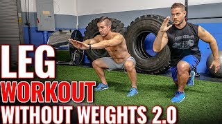 Leg Workout without Weights 2.0  |  6 Exercises for STRONG Legs