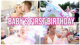 BABY'S FIRST BIRTHDAY // BEASTON FAMILY VIBES