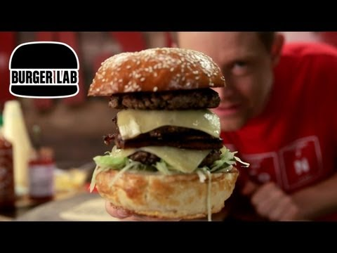 July 4th Triple Decker Cheeseburger - Burger Lab