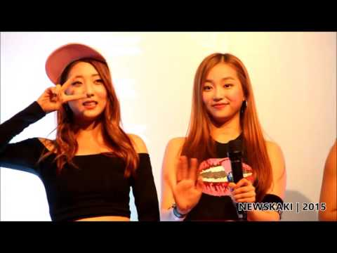 "CLC's cute moments on stage - CLC ""First Love"" Promo Tour in Malaysia @ Berjaya Times Square"