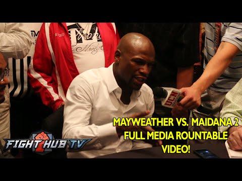 Mayweather vs. Maidana 2 Full Mayweather video interview scrum