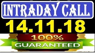 IntraDay Top 3 Jackpot Call  14.11.2018     today stock    intraday    best stock for 2018