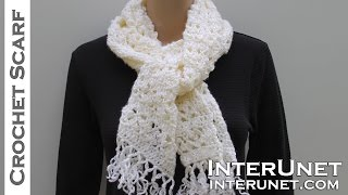 How to crochet a scarf - lace scarf crochet pattern