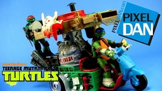 Teenage Mutant Ninja Turtles Pizza Thrower Vehicle 2015 Video Review