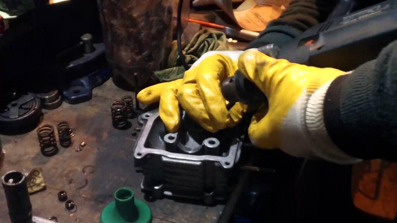Скутер притирка клапанов своими руками зазор