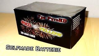 selfmade 20 Schuss Batterie Cake FAIL Batterie schießt wild um sich [HD]