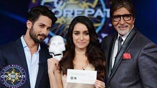 Shahid Kapoor & Shraddha Kapoor promote Haider on Kaun Banega Crorepati 7