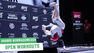 McGregor vs. Khabib: Khabib Nurmagomedov Full Open Workout