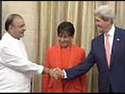 John Kerry meets Defence Minister Arun Jaitley