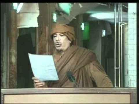 Aljamahiriya TV Libya - Muammar Al Gaddafi's big full speech February -2011, Tripoli