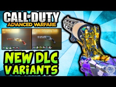 Advanced warfare new dlc variants all m1 irons elite weapons