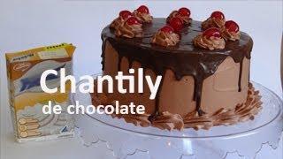 Como fazer chantily de chocolate