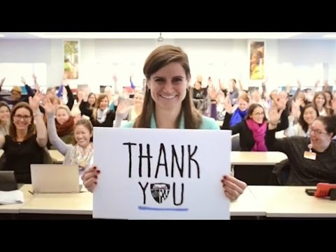 Johns Hopkins University - Thank You 2014 video