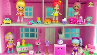 Shopkins Happy Places Shoppies Dolls + Kitty Dinner Party & Slumber Bear Party Petkins Blind Bags