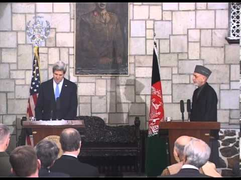 President Karzai & U.S. Secretary of State Kerry joint press conference