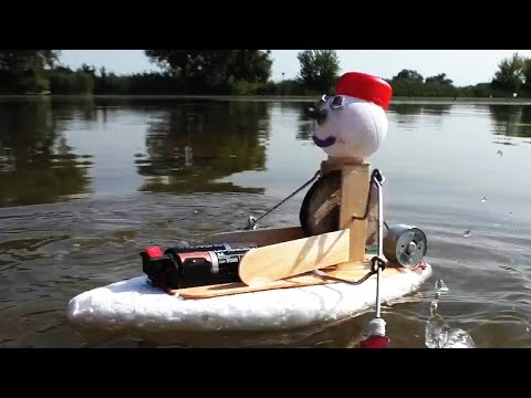 How to make Boat With Oars - Amazing Styrofoam DIY