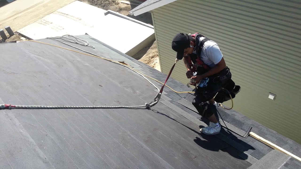 10 12 Shingling Steep Roof Youtube