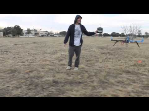 APM 2.5 ArduCopter Quadcopter Return to Launch (RTL) Field Test in Windy Conditions - Austin. TX