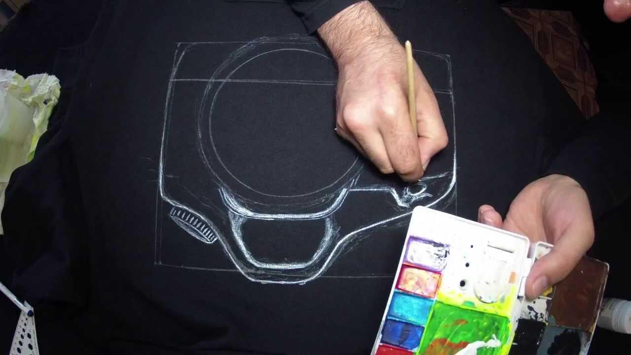 Рисунки на одежде самому